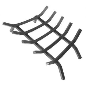 Extra Thick Steel Fireplace Grate w 5 Bars - 23 inches Length