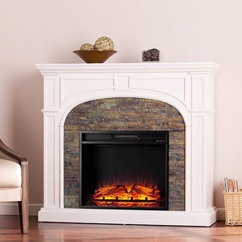 Fairrbury II Stacked Stone Electric Fireplace