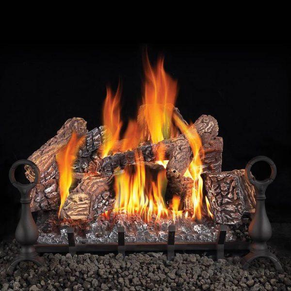 Fiberglow 24 Inch Vented Log Burner Set Insert for Natural Gas Fireplaces 1