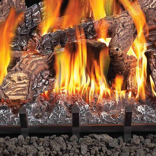 Fiberglow 24 Inch Vented Log Burner Set Insert for Natural Gas Fireplaces 2