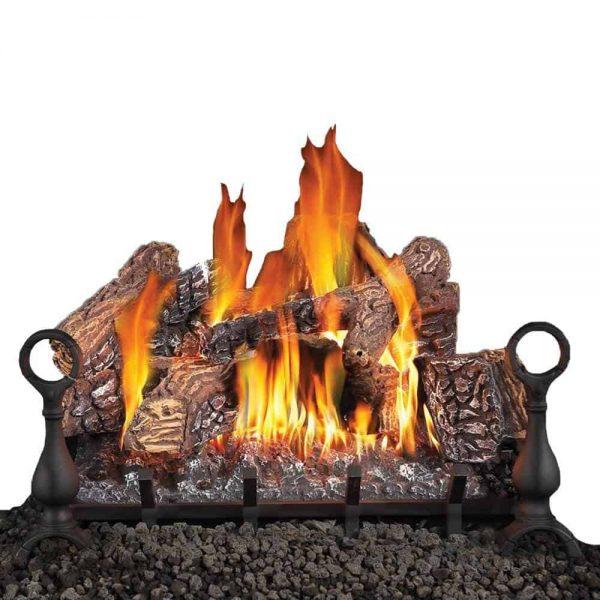 Fiberglow 24 Inch Vented Log Burner Set Insert for Natural Gas Fireplaces
