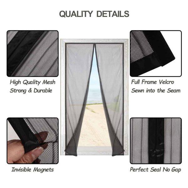 Finnhomy Magnetic Screen Door Hand Free Mesh Curtain, Heavy Duty Mesh & Full F.. 1
