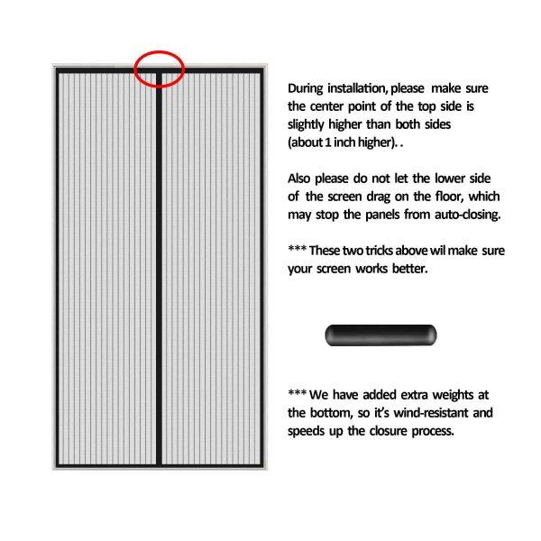 Finnhomy Magnetic Screen Door Hand Free Mesh Curtain, Heavy Duty Mesh & Full F.. 4