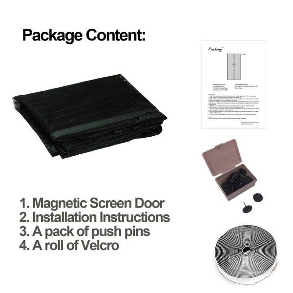 Finnhomy Magnetic Screen Door Hand Free Mesh Curtain, Heavy Duty Mesh & Full F.. 5