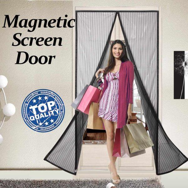 Finnhomy Magnetic Screen Door Hand Free Mesh Curtain