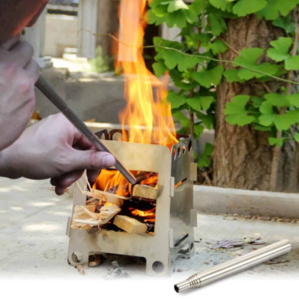 Fire Blowing Tube Outdoor Collapsible Fire Tool Campfire Tool 3