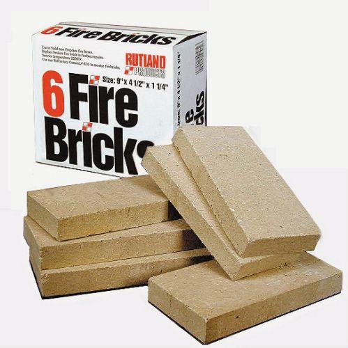 """Fire Brick (6 Bricks/Box) - 4.5"""" X 9"""" X 1.25"""""""