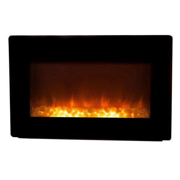 Fire Sense Black Wall Mounted Electric Fireplace 1