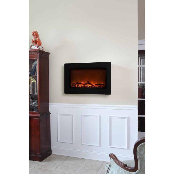 Fire Sense Black Wall Mounted Electric Fireplace 5