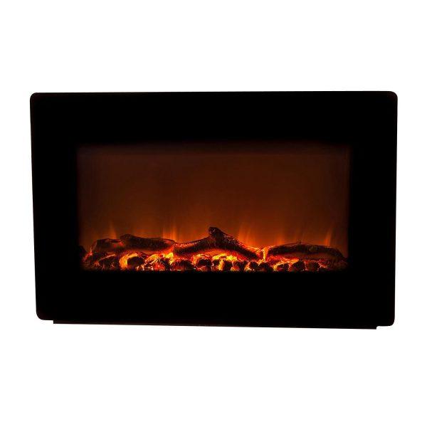 Fire Sense Black Wall Mounted Electric Fireplace