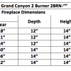 "Fireplace Burner Grand Canyon 2 Burner Front View 36"" FCP2BRN-36 - 2"