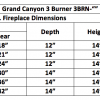 "Fireplace Burner Grand Canyon 3 Burner See Through 42"" FCP3BRN-ST42 - 2"