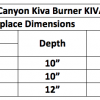 "Fireplace Burner Grand Canyon Kiva Burner 30"" KIVABRN-30 2"