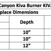 "Fireplace Burner Grand Canyon Kiva Burner 30"" KIVABRN-30 2"