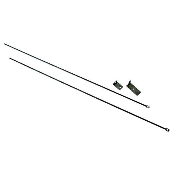 Fireplace Curtain Rod Kit - 32 - 58 in. Long 1