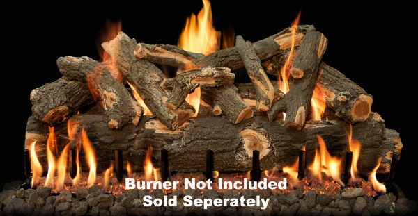 """Fireplace Logs 12Pc Arizona Weathered Oak For Front View Burners 42"""" (Burner Not Included) -"""