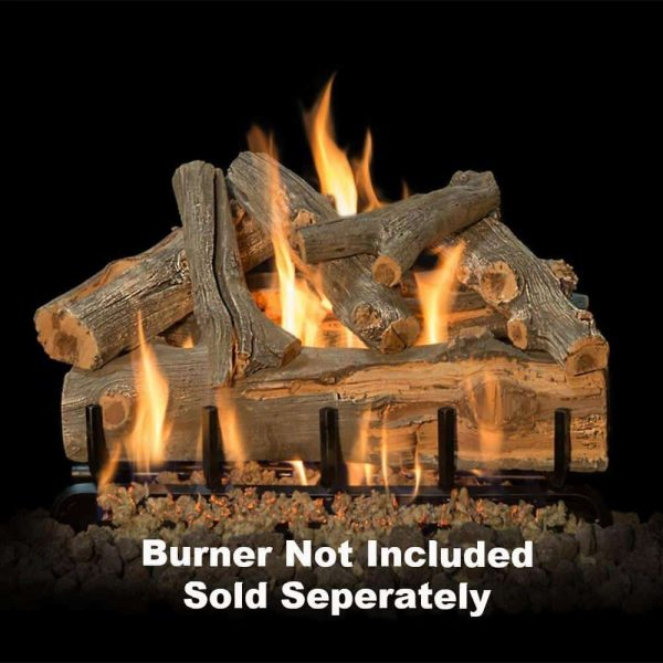 "Fireplace Logs 7Pc For See Through Burners 24"" (Burner not included) -"