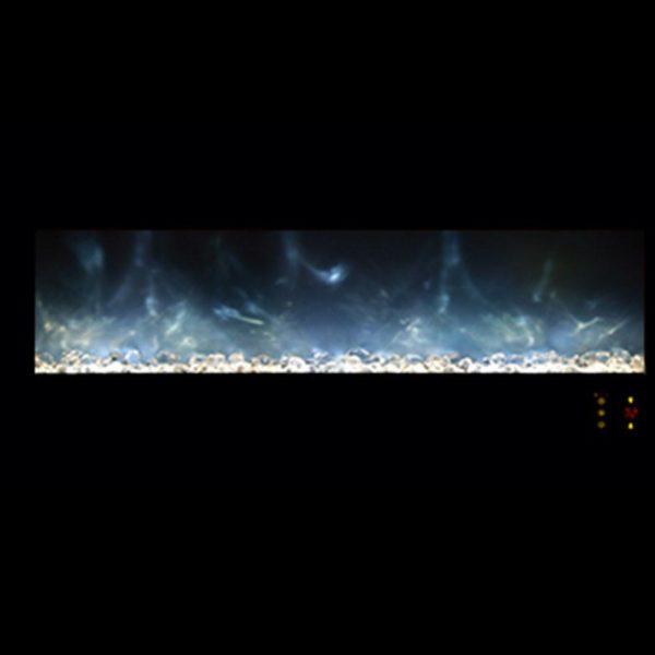 Fireplace Modern Flames Lin DLX 2 Elec Matte Black Steel FCPAl45CLX2-MB - 1