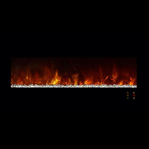 Fireplace Modern Flames Lin DLX 2 Elec Matte Black Steel FCPAl45CLX2-MB - 3