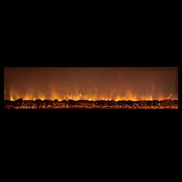 Fireplace Modern Flames Lin DLX 2 Elec Matte Black Steel FCPAl45CLX2-MB -