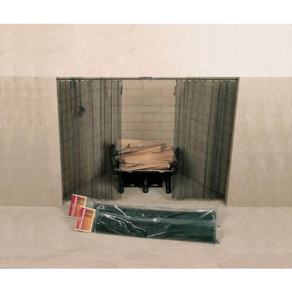 """Fireplace Screen 48"""" x 20"""" Woodfield Hanging Spark 61078 - 1"""