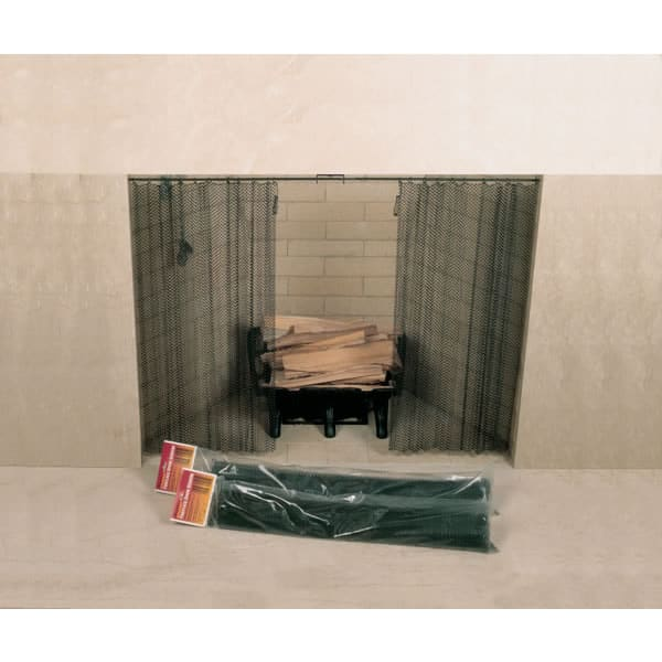 """Fireplace Screen 48"""" x 20"""" Woodfield Hanging Spark 61078 -"""