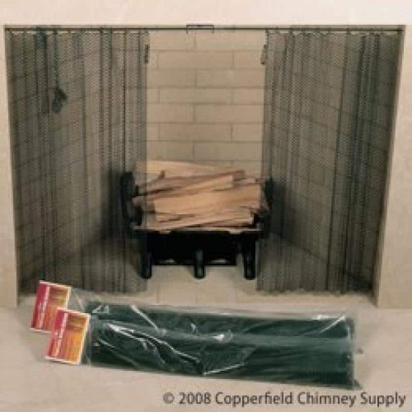 """Fireplace Screen 48"""" x 30"""" Woodfield Hanging Spark 61088 -"""