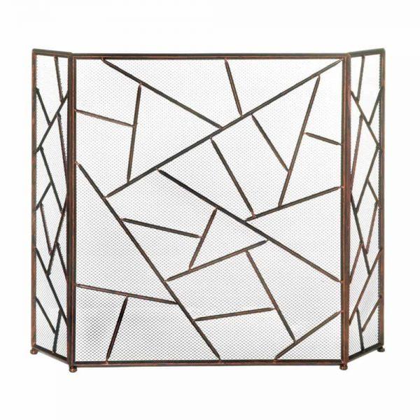 Decorative Modern Metal Fire Screen For Fireplace