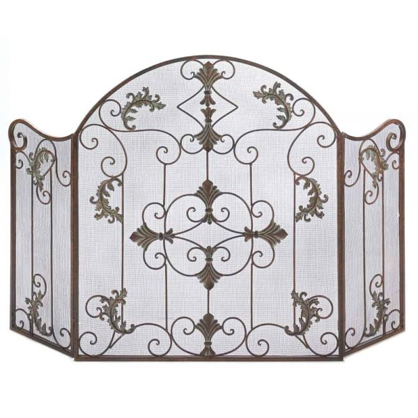Traditional Italian Arched Florentine Fireplace Screen