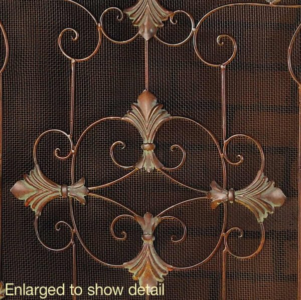Fireplace Screen Saver, Traditional Italian Arched Florentine Fireplace Screen 1