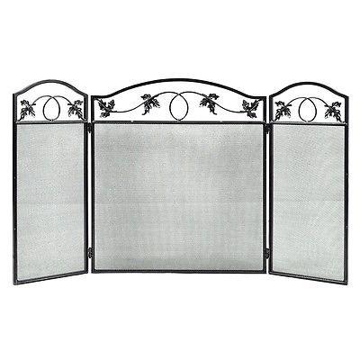 Folding Steel Fireplace Screen Doors 3 Panel Heavy Duty Home Furni Decor Fire 1