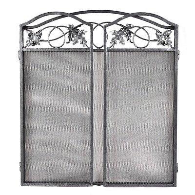 Folding Steel Fireplace Screen Doors 3 Panel Heavy Duty Home Furni Decor Fire 3