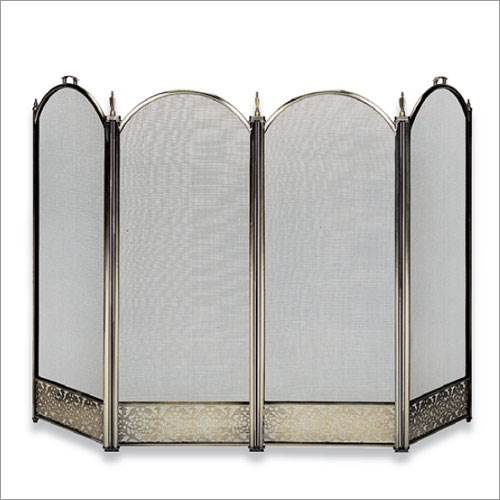 Four Fold Brass Fireplace Screen - Filigree Designs And Handles