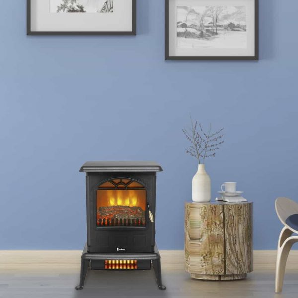 Freestanding Infrared Quartz Fireplace
