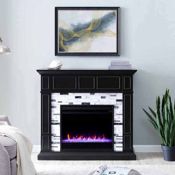 Frescan Marble Color Changing Fireplace by Ember Interiors 10