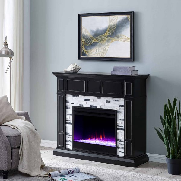 Frescan Marble Color Changing Fireplace by Ember Interiors 11