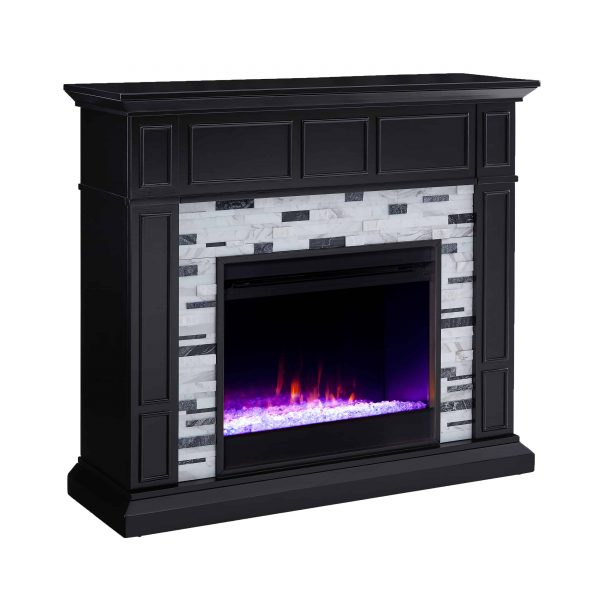 Frescan Marble Color Changing Fireplace by Ember Interiors 12