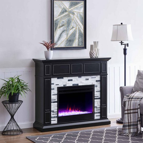 Frescan Marble Color Changing Fireplace by Ember Interiors 15