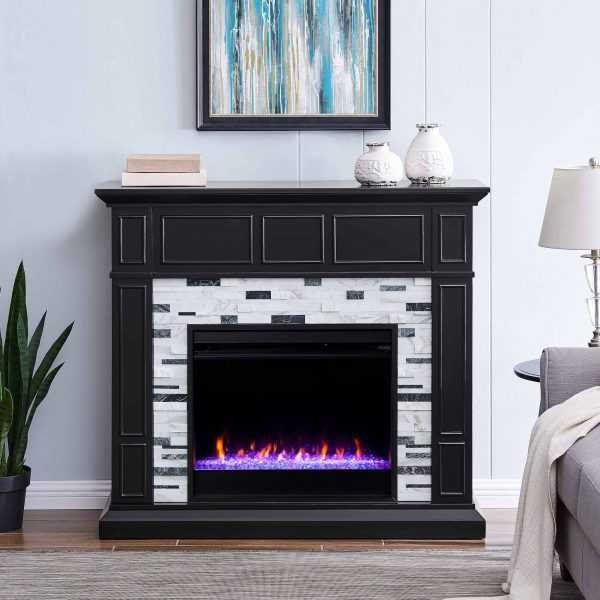 Frescan Marble Color Changing Fireplace by Ember Interiors 7
