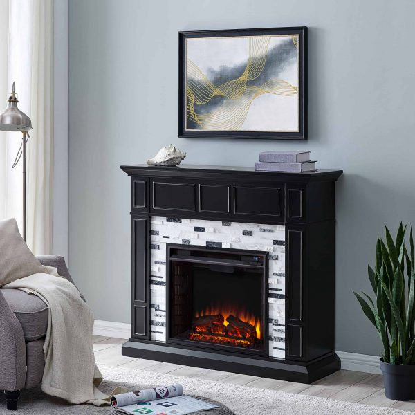 Frescan Marble Electric Fireplace by Ember Interiors 10