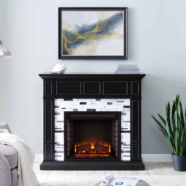 Frescan Marble Electric Fireplace by Ember Interiors 11