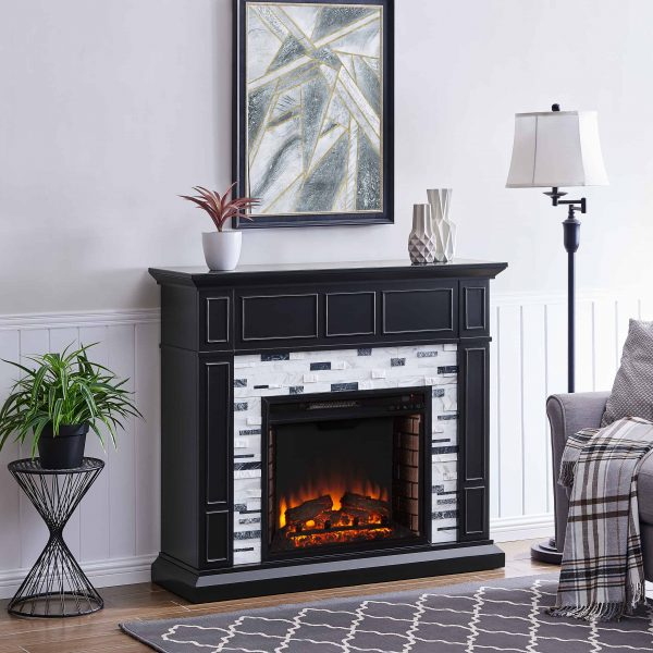 Frescan Marble Electric Fireplace by Ember Interiors 19