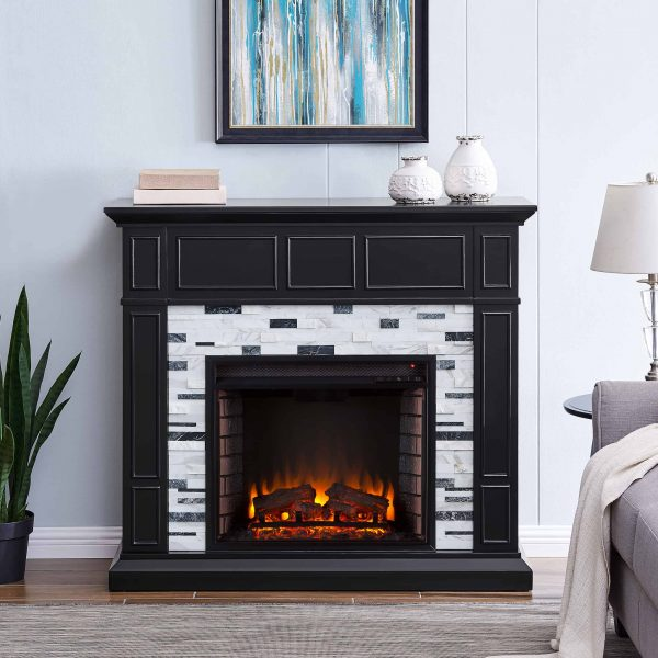 Frescan Marble Electric Fireplace by Ember Interiors 5