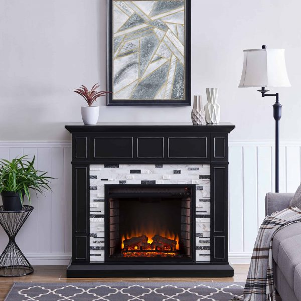 Frescan Marble Electric Fireplace by Ember Interiors