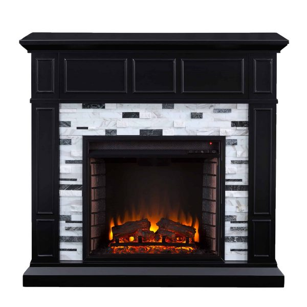 Frescan Marble Electric Fireplace by Ember Interiors 7
