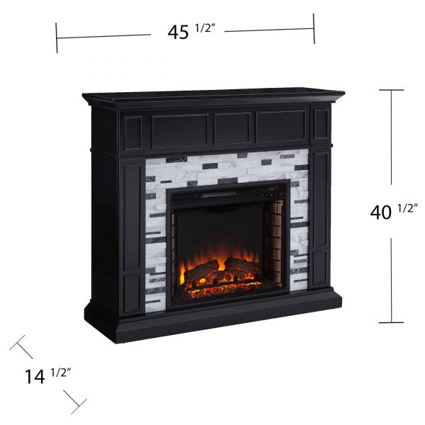 Frescan Marble Electric Fireplace by Ember Interiors 8