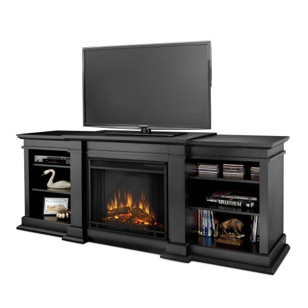 Fresno Electric Fireplace in Black by Real Flame
