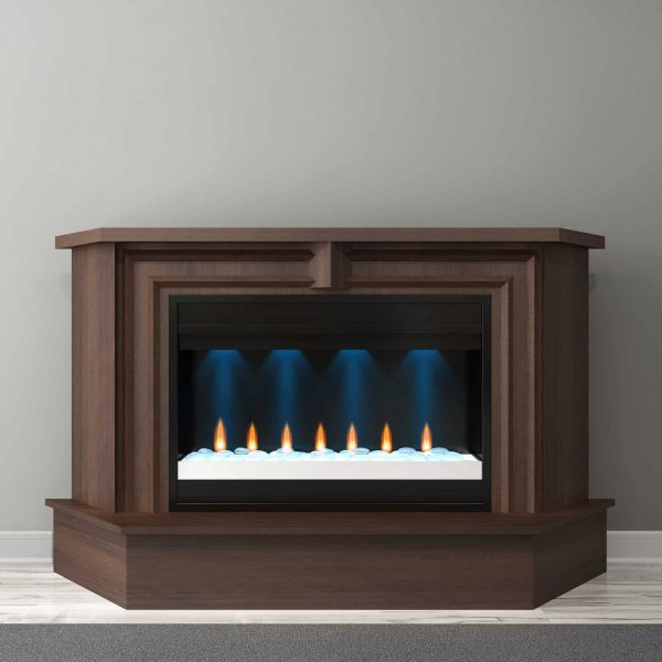 Furnitech Ambience 67 in. Electric Fireplace Mantel 1