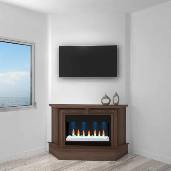 Furnitech Ambience 67 in. Electric Fireplace Mantel