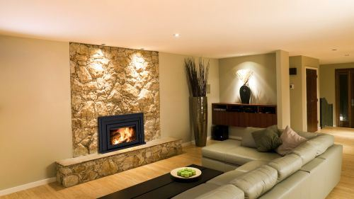 """Fusion FN-01 Fireplace Insert with 38"""" x 24"""" Surround Package1"""